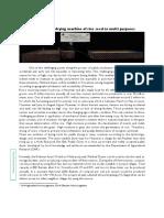ANNEX III Technical Fact-Sheet of Radanar Ayar's Model Multi-Purposed Flat Bed Dryer