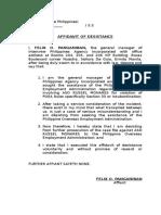 sample affidavit of desistance
