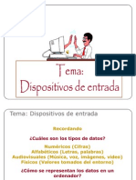 5. DISPOSITIVOS DE ENTRADA