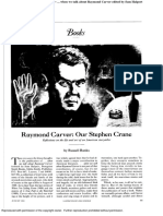 Raymond Carver Our Stepahn Crane