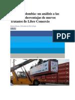 Beneficios y Desventajas Del TLC Para Colombia