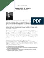 La Importancia de Planear (1)