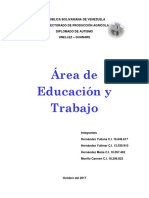 Areas de Educacion y Trabajo