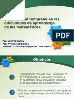 Intervención Temprana en Las Dificultades de Aprendizaje de Las Matemáticas