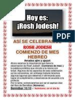 Como Se Celebra Rosh Jodesh