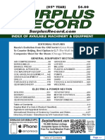 AUGUST 2019 Surplus Record Machinery & Equipment Directory