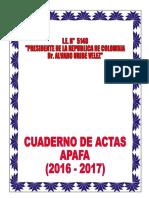 Caratula Cuaderno de Actas