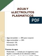 Agua y Electrolitos Plasmaticos