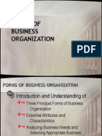 Forms of Business Org