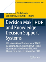 Decision Making and Knowledge Decision Support Systems.
