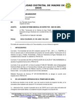 INFORME 11  Alcanza Informe mensual N° 01