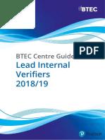 Lead Internal Verifiers 2015 16