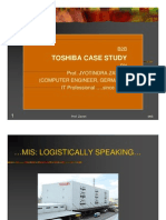 MIS.  Case study Data Warehousing.  Toshiba Logistics.