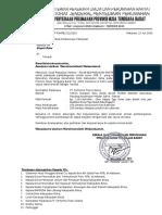 Surat Penyerahan Lapangan Rusun Kab. Bima Kecamatan BOLO