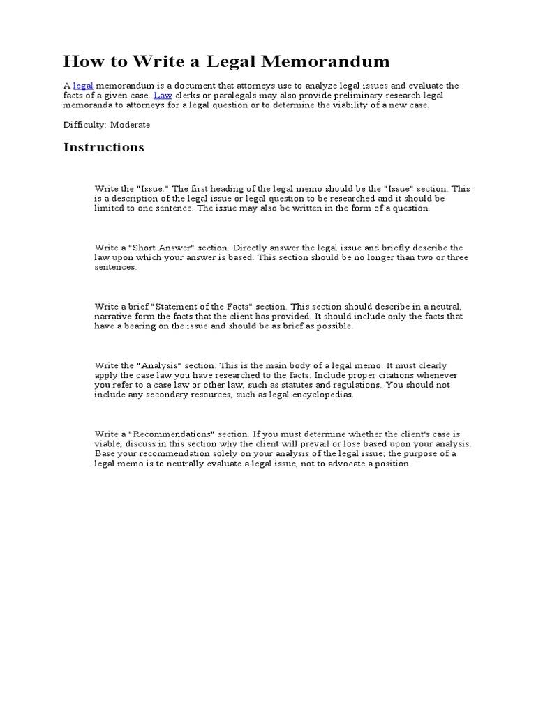 a research on legal memorandum on the take awake case