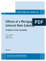 Effects of a Mortgage Interest Rate Subsidy Evidence From Colombia