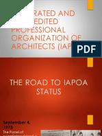 Road to IAPOA 3