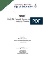 Report 1 Educ 293