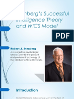 Stenberg's Successful Intelligence Theory and WICS Model
