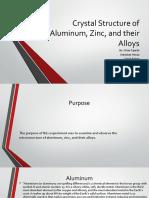 MicroStructure of Aluminum, Zinc