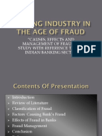 Banking Industry in the Age of Fraud