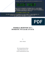 11e8d2d91 Federal Response to a Domestic Nuclear Attack (Counterproliferation Papers,  Future Warfare Series, Number