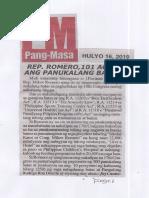 Pang-Masa, July 16, 2019, Rep. Romero, 101 agad ang panukalang batas.pdf