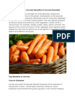 PsySpeaks Blog - Benefits of Carrot