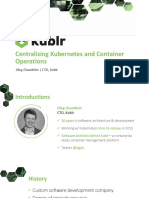 Centralizing Kubernetes and Container Operations