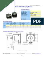 Leedshine 42HS03 Stepper Motor Datasheet