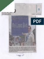 Philippine Star, July 16, 2019, Manila Dist. 1 Rep. Manny Lopez.pdf