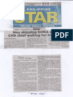 Philippine Star, July 16, 2019, Noy skipping SONA anew CHR chief waiting for invitation.pdf