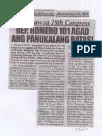 Police Files, July 16, 2019, Humataw sa 18th Congress Rep. Romero 101 agad ang panukalang batas.pdf