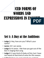 Reduced Forms and Expression in English