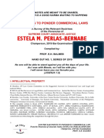 Pointers in Commercial Law