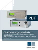 Manual gas analizer siemens