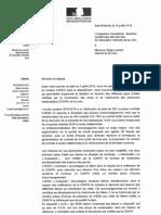 Réponse de Jean-Pierre BATAILLER, Directeur académique, à mon courrier sur la diminution du nombre d'AESH