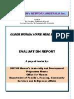 Older Women Make Wise Leaders Evaluation Report