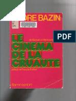 406264661 BAZIN Andre Le Cinema de La Cruaute PDF