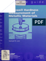 Rockwell Hardness Measurements for Metallic Materials