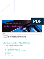 Lecture Notes in Medical Technology_ Lecture #5_ THYROID FUNCTION TESTS