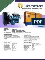 TNK625DO Taneko Industrial Generator (Tnk Ind)