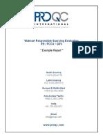 ProQC ExampleReport WalMart Audit Report