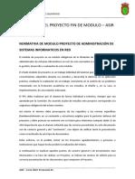 Regulación Del Proyecto Fin de Modulo
