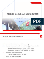 GPON Mobile Backhaul