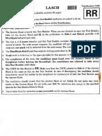 2018 NEET Question Paper Code RR
