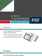 Propiedades Del Texto - Monografía