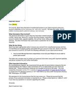 Sprint breach notification (Samsung.com)