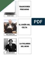 AUTORES LITERATURA PERUANA