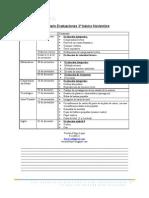 Calendario Evaluaciones Nov 3º básico